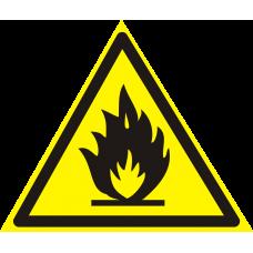 """Знак """"Пожароопасно! Легковоспламеняющиеся вещества"""""""
