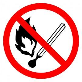 """Знак """"Запрещается пользоваться открытым огнем"""""""